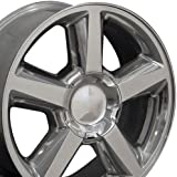 20x8.5 Wheel Fits GM Trucks & SUVs - Chevy Tahoe Style Polished Rim, Hollander 5308