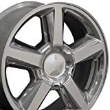 gmc sierra rims and tires - OE Wheels 20 Inch Fits Chevy Silverado Tahoe GMC Sierra Yukon Cadillac Escalade CV83 20x8.5 Rims Polished SET