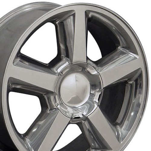 20x8.5 Wheel Fits GM Trucks & SUVs - Chevy Tahoe Style Polished Rim, Hollander 5308 (Chevy Silverado Rims And Tires)