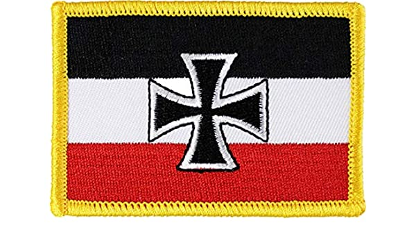 GERMANY WITH EAGLE COUNTRY FLAG IRON-ON PATCH CREST BADGE 1.5 X 2.5 INCH