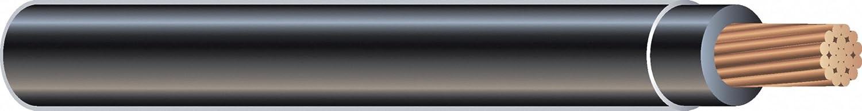 Construcción de alambre, THHN, 6 AWG, negro, 100 m