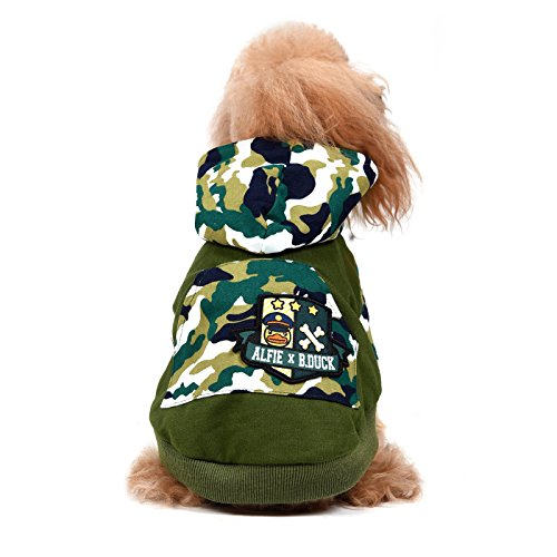 Alfie x B.Duck - Maddox Military Hoodie - Color: Green, Size: XL]()