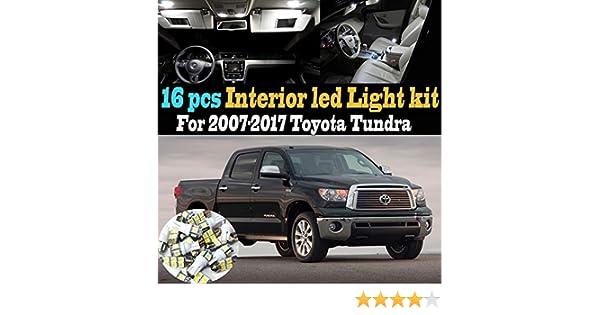 16Pc 6000k White Interior LED Light Bulb Kit Package for 2007-2017 Toyota Tundra