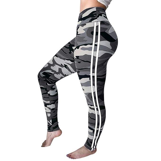 Amazon.com: TOTOD - Pantalones de yoga para mujer, de moda ...