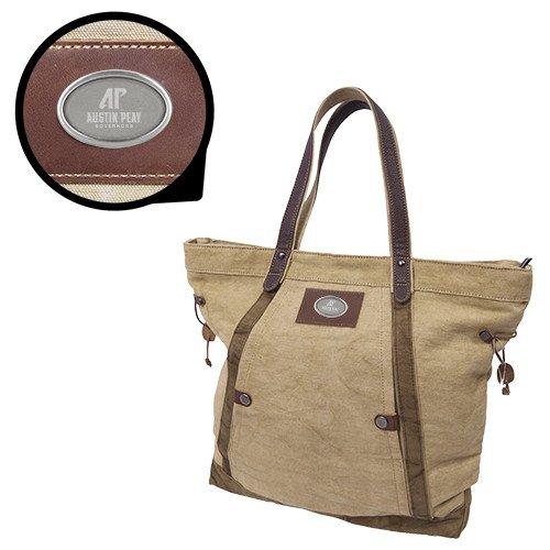 Austin Peay Canyon Ashton Linen Tote 'AP Austin Peay Governors - Official Athletic Logo Engraved' by CollegeFanGear