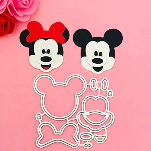 Best Quality - Cutting Dies - Lovely Mickey Minne Bow Ear Cutting Dies Stencils for DIY Scrapbooking/Photo Album Decorative Embossing DIY Paper Cards - by BLUESKYUP - 1 PCs
