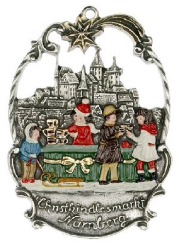 Christmas Market in Nuremberg German Pewter Ornament Nurnberg Decoration