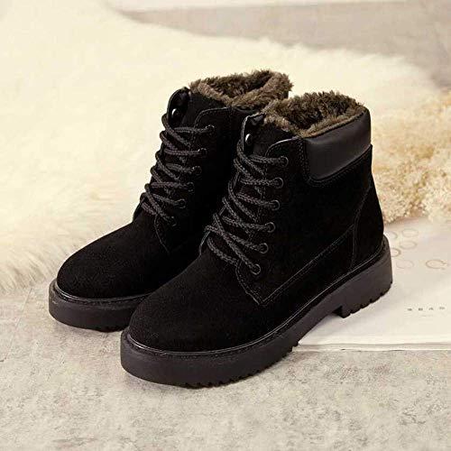 compensées couleur taille velours 3 vert à en neige Zhrui Chaussures pour d'hiver Bottes de avec talons Bottes femmes Noir de Plus femmes hauts Uk sport 5 pour 8RB71g8q