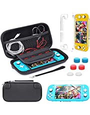 Carrying Case Compatible with Nintendo Switch Lite,Portable Travel Protective Hard Case with 8 Games Cartridges Compatible with Nintendo Switch Lite Console& Accessories,Black