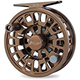 Piscifun Blaze Mid Arbor Fly Fishing Reel with CNC-machined Aluminum Alloy Body 3/4, 5/6, 7/8, 9/10(Gold, Brown, Sapphire Blue)