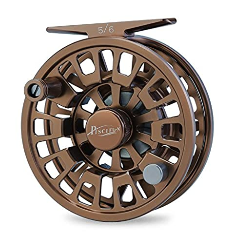 Piscifun Blaze Mid Arbor Fly Fishing Reel with CNC-machined Aluminum Alloy Body 3/4 Brown (Fly Fishing Redington)