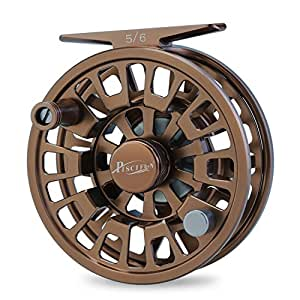 Piscifun Blaze Mid Arbor Fly Fishing Reel with CNC-machined Aluminum Alloy Body 7/8 Brown