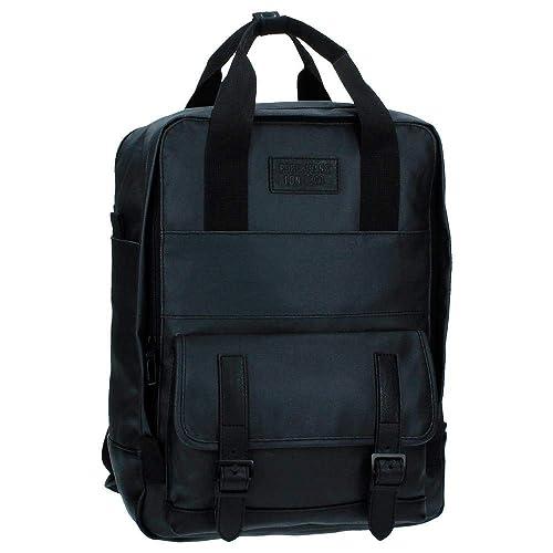Pepe Jeans Black Label Mochila Porta Ordenador, 13.50 litros, Color Negro: Amazon.es: Zapatos y complementos