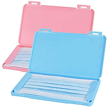 20 Nuanchu Plastic Face Covering Storage Clip Portable Face Covering Case Folder Waterproof Ear Tie Keeper Holder for Daily and Travelling Use