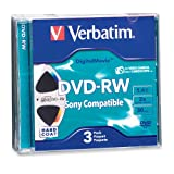 Verbatim Mini DVD-RW DigitalMovie 1.4GB 2X 3pk Jewel Case Blister (Discontinued by Manufacturer)