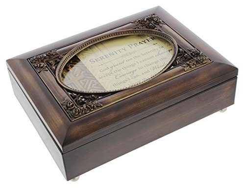 Personalize Jewelry (Cottage Garden Dark Woodgrain Music Box with Poem Insert