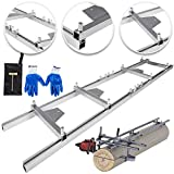 OrangeA Rail Mill Guide System 5 FT Chainsaw Mill Rail Guide with 3 Wood Fixing Plate Rail Mill Guide Used in Combination with The Saw Mill (5FT-RMG)