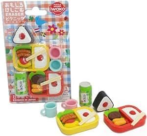 iwako japanese bento lunch eraser set toys games. Black Bedroom Furniture Sets. Home Design Ideas