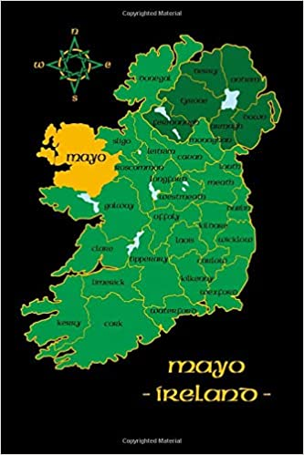 Map Of Ireland Mayo.Mayo Ireland County Map Irish Travel Journal Republic Of Ireland
