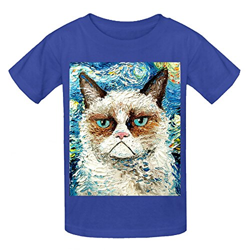 Grumpy Cat Is Still Grumpy Kid's Crew Neck Short Sleeve Tees Blue