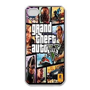 iPhone 4,4S Phone Case White Grand Theft Auto 5 DY7697931
