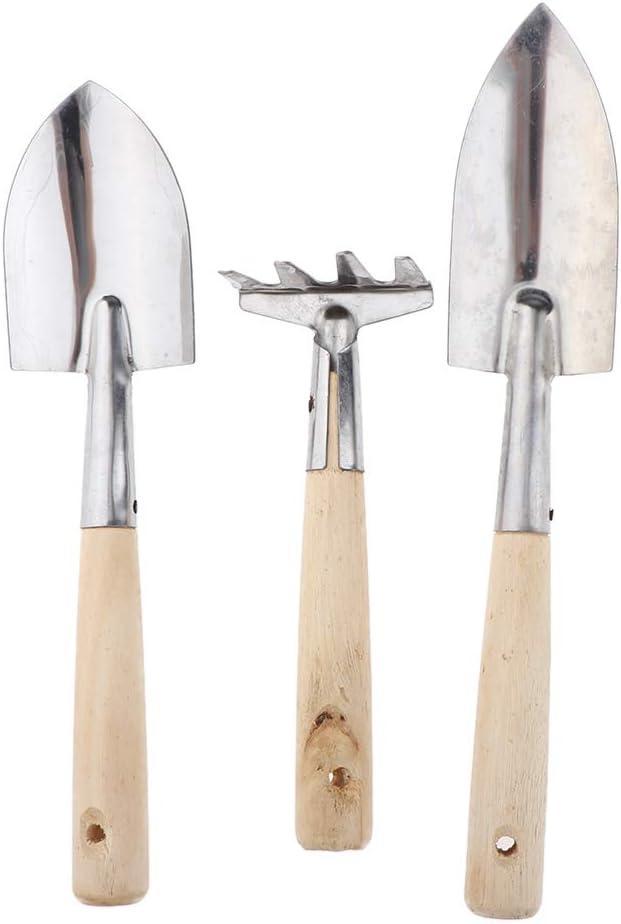3XStainless Steel Heavy Duty Gardening Tool Set Transplanting Succulent Tool