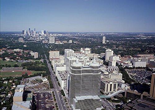 Photo  Aerial View Texas Medical Center Skyline Houston Texas Tx Carol Highsmith