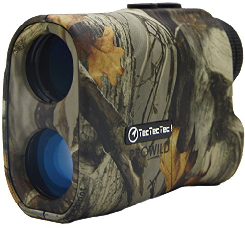TecTecTec ProWild Hunting Rangefinder - 6x24 Laser Range Finder for Hunting with Speed, Scan and Normal measurements (Camo) by TecTecTec