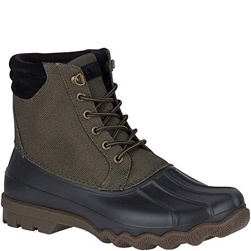 SPERRY Men's Avenue Duck Heavy Nylon Rain Boot, Olive, 10.5 M US