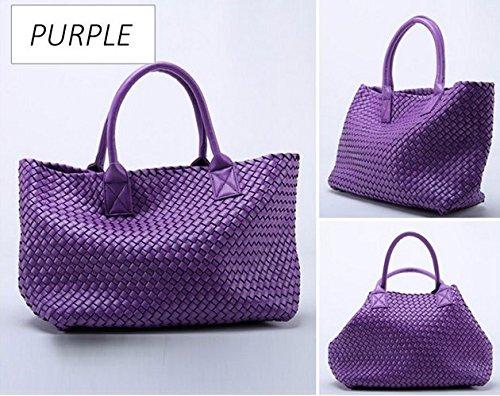 Femmes Totes À Occasionnels Sacs Sac Purple Tissés À Luxe Femmes Main Sacs Otomoll Designer Occasionnels Femmes Bandoulière Sacs De O6qPyxBaw