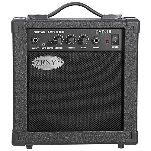 """ZENY 39"""" Full Size Electric Guitar with Amp, Case and Accessories Pack Beginner Starter Package, Black"""