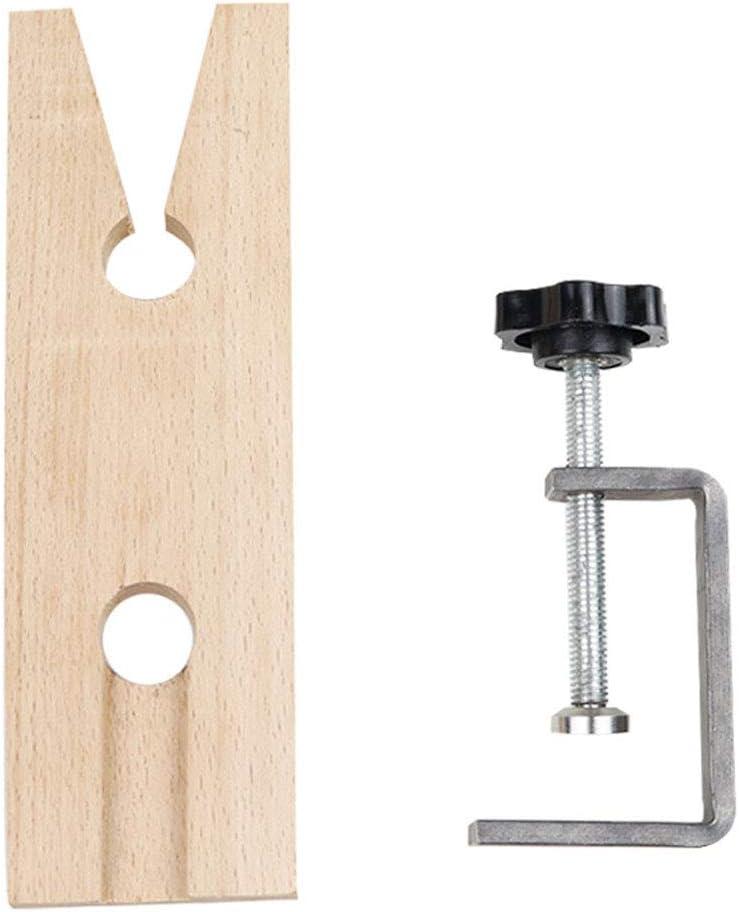 zhiwenCZW Morsetto per Perno da banco per gioiellieri con scanalatura a V Morsetto a C per Montaggio su banco da Lavoro Strumenti per gioiellieri