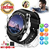Smart Watch,Smartwatch for Android Phones, Smart Watches Touchscreen with Camera Bluetooth Watch Phone with SIM Card Slot Watch Cell Phone Compatible Android Samsung iOS Phone XS X8 7 6 5 Men Women