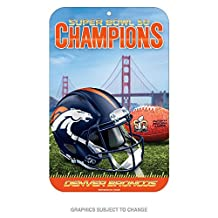 Denver Broncos Official NFL 11 inch x 17 inch Super Bowl 50 Champions Reserved Parking Sign by Wincraft 453518