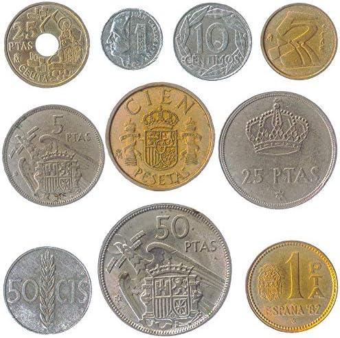 10 عملات إسبانيا إسبانيا عملة بيزيتا بيزيتا سينتيموس قبل اليورو 1939 2001 اختيار مثالي لبنك العملات الخاص بك وحاملي العملات المعدنية وألبوم العملات المعدنية Buy Online At Best Price In Uae Amazon Ae