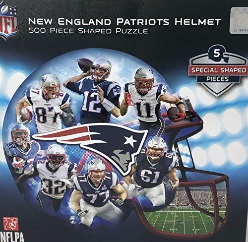 (New England Patriots Helmet Shaped 500 Piece)