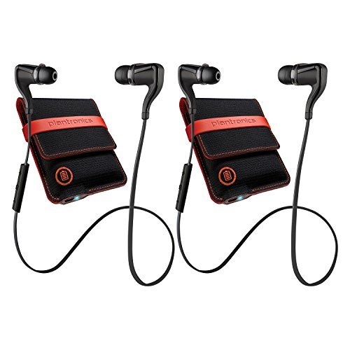 2-Pack Plantronics BackBeat Go 2 Bluetooth Wireless Earbud Headphones w/ Controls & Charging Case (Certified Refurbished)