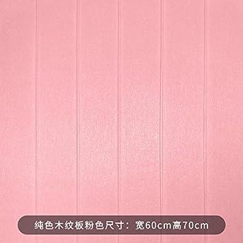 YUELA Montaje en pared 3D Pegatina Wood-Grain espuma anti-Kindergarten 撞 Tv Falda Impermeable de pared autoadhesivas de papel tapiz, mezcla de colores placa Wood-Grain M Wong, grande