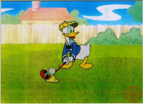 Donald Duck Golf - Walt Disney Limited Edition Animation Cel, Unframed, DC-DD-03U