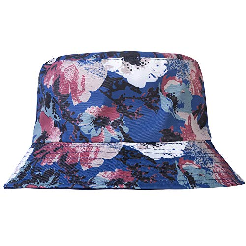 (ZLYC Unisex Cute Print Bucket Hat Summer Fisherman Cap (Flower Navy))