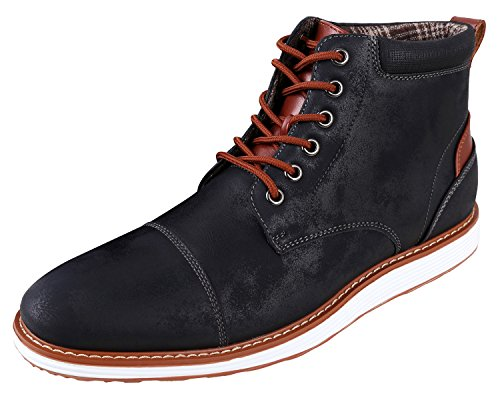 Ferro Aldo Men's Birt Classic Ankle Boots   Dress Shoes   Ankle Boots for Men   Winter Boots   Black 12 (Winter Shoes Casual)