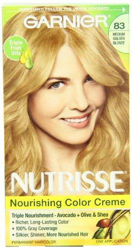 Garnier Nutrisse Permanent Haircolor, 83 Medium Golden Blonde Cream Soda