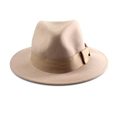 Accessoryo Unisex Camel Wool Fedora Hat  Amazon.co.uk  Clothing da4f8b8e6a0