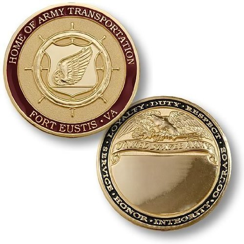 Home of Army Transportation, Fort Eustis, VA - Engravable Challenge Coin