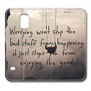 iCustomonline Keep Calm and Custom Design Leather Case Cover for Samsung Galaxy S5