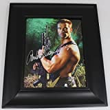 #10: Arnold Schwarzenegger Predator Signed Autographed 8x10 Glossy Photo Gallery Framed Loa