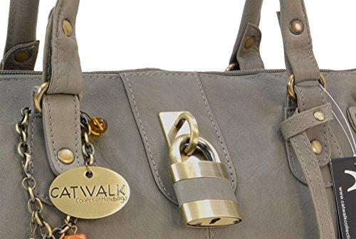 Collection Catwalk en Chancery cuir Gris Sac à main SXRqwxgYP