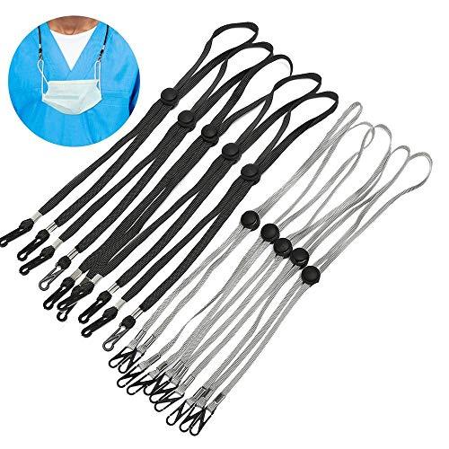 Glaring 10 Pack Adjustable Length Face Mask Lanyard Chain Strap Holder for Women Kids Holder Comfortable Around The Neck
