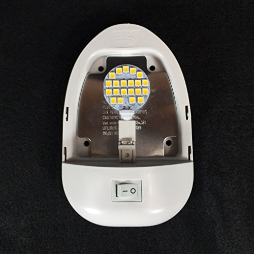 New 4200k Rv 12v Single Euro Style Pancake Led Dome Light