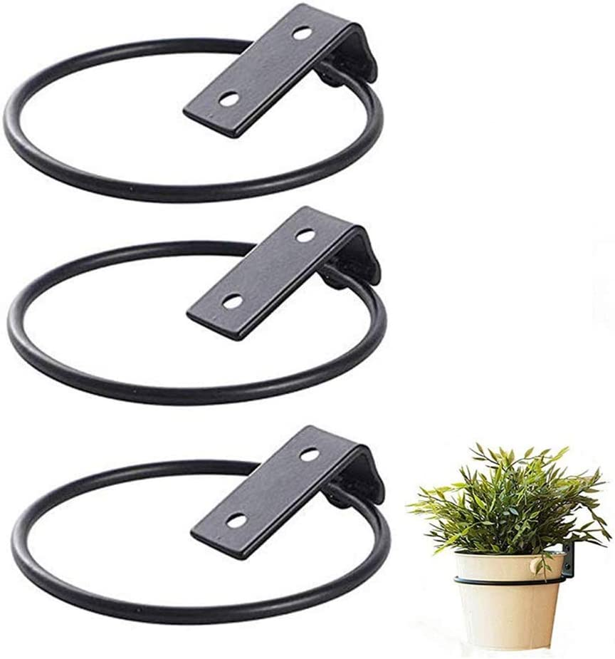 Plant Flower Pot Desktop Storage Organizer for Home Decoration 1L Tinplate Buckets with Handle Rings Pack of 3 by Oclot